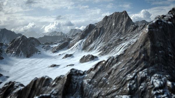 3D snow mountain model