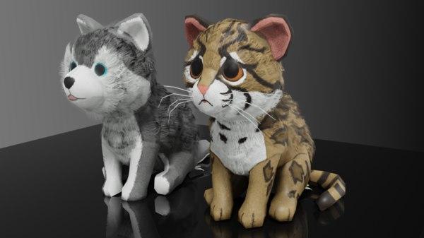plushie animals toys 3D