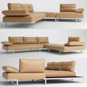 3D sofa furniture natuzzi
