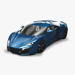 w motors lykan hypersport 3D model