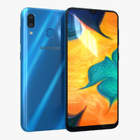3D samsung galaxy a30 blue model