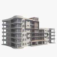 3D apartment building architecture