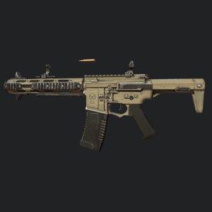 honey badger assault rifle 3D model
