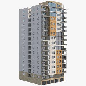 apartment building 36 3D model