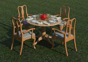 3D model dinning table set