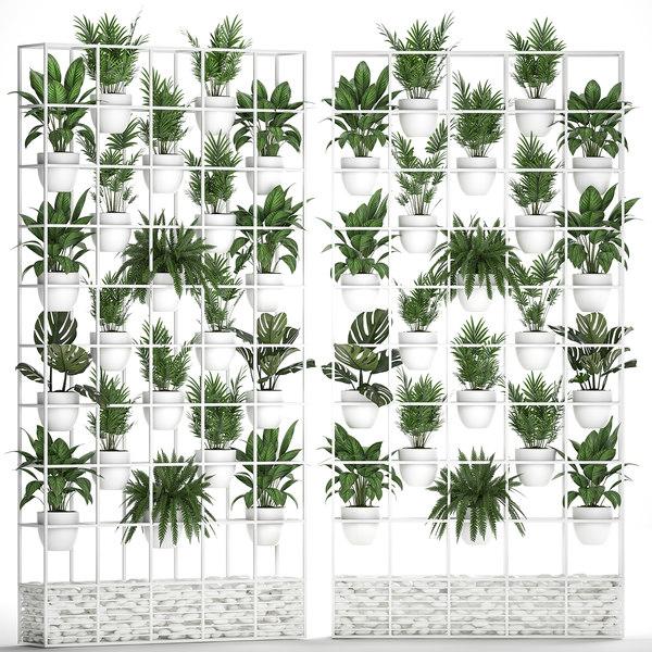plants vertical gardening 3D
