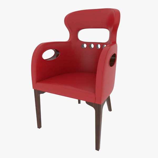 3D leather chair model