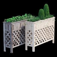 3D raised patio planter 48