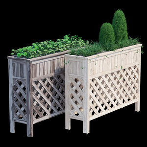 3D raised patio planter 48