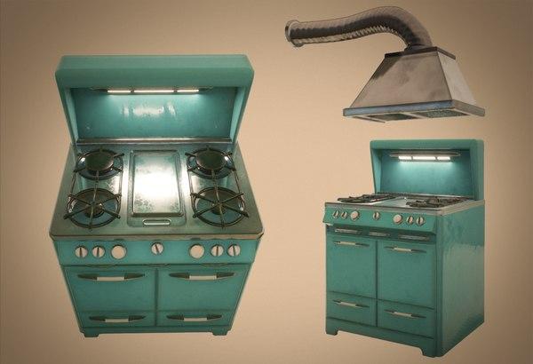 retro stove fan 3D