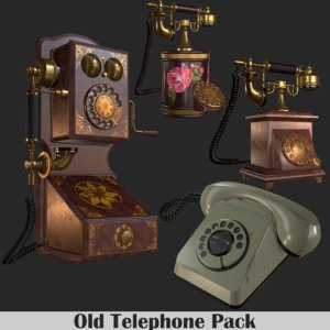old phone pack 3D model