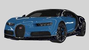 3D 2018 bugatti chiron simple