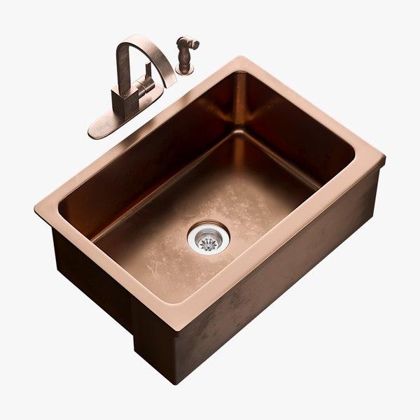 realistic sink bria mixer 3D model