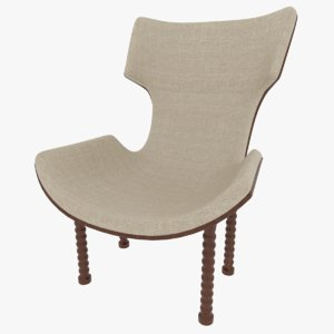 fabric chair 3D model