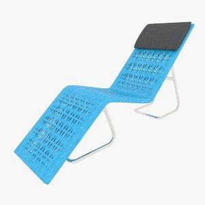 3D garden chaise lounge
