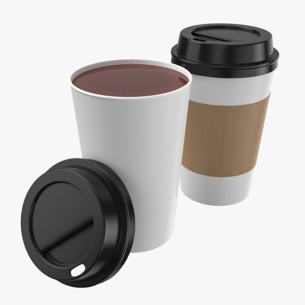 3D tea paper cup coffee