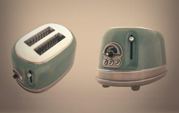 retro toaster 3D model