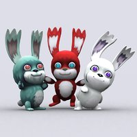 chibiimon bunny - 3D