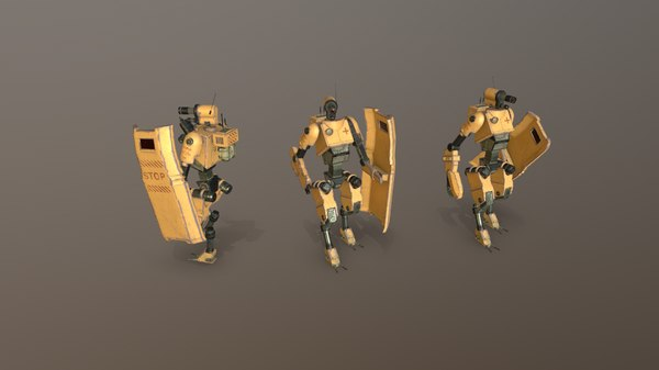 gameready technician-medic robot 3D model