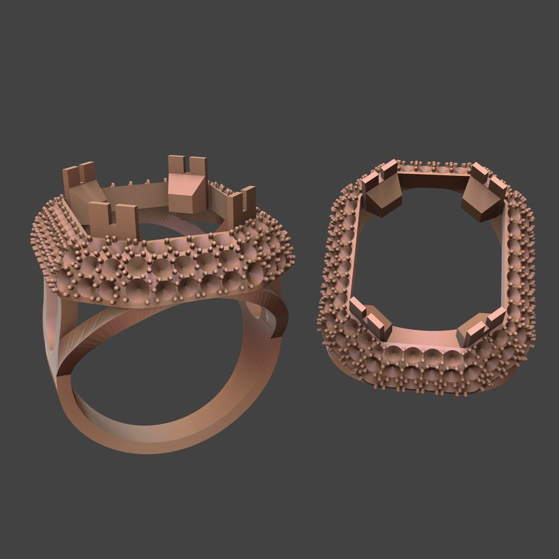 women ring with big stone
