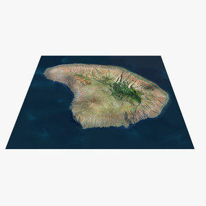 3D model lanai island