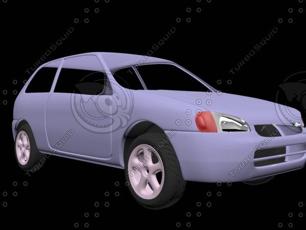 3D toyota starlet model