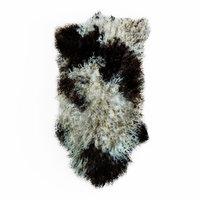 wool bedside sheepskin rug 3D model