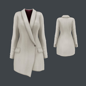 3D model blazer dress
