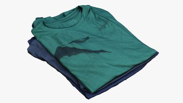 merino t-shirts 3D model