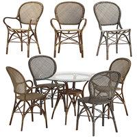 originals table rossini chair 3D model