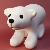 3D bear snow