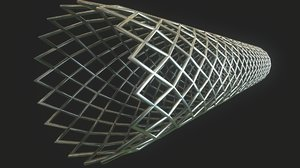 modeled medical stent 3D model