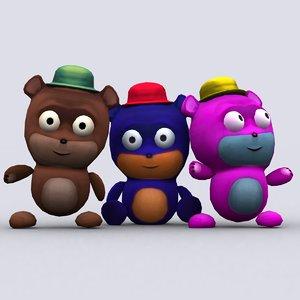 3D chibiimon teddy -