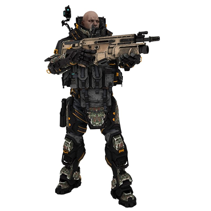 sci-fi soldier type c model