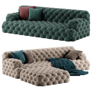 meridiani norton sofa pouf 3D