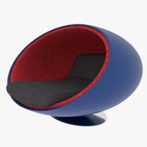 bubble chair 3D