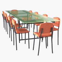 furniture seating table 3D model