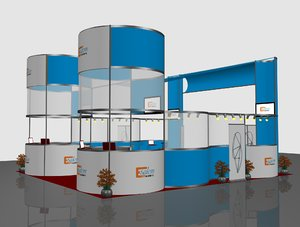 3D model exhibition booth 6x8
