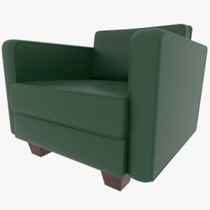 leather couch 3D