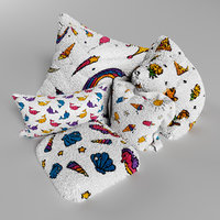 3D pillows rainbow