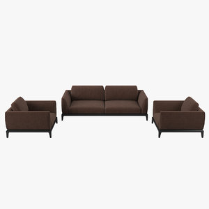 3D busnelli akita sofa chair