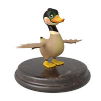 3D model wild goose rigged character