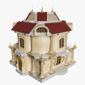 3D baroque house 0 3
