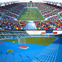 3D stadium arena