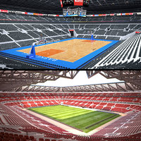 3D stadium basketball arena model