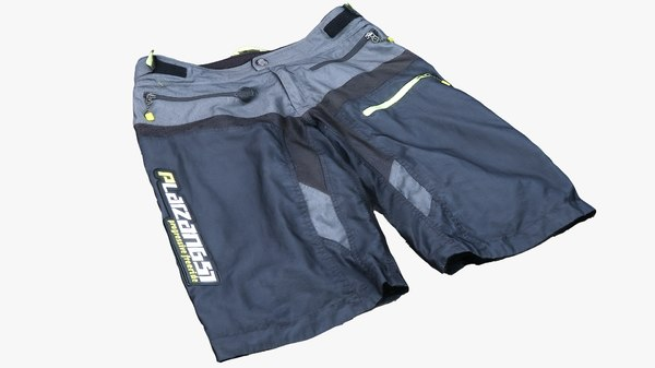 3D mountainbike shorts model