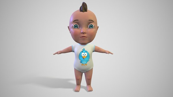 cartoon baby 3D model