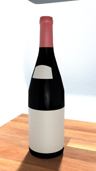 3D wine bottle