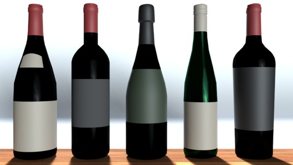 bottles materials 3D model
