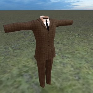 3D model edwardian suit